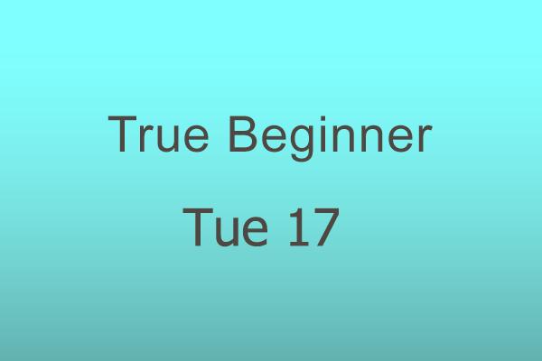 True Beginner Tue 17