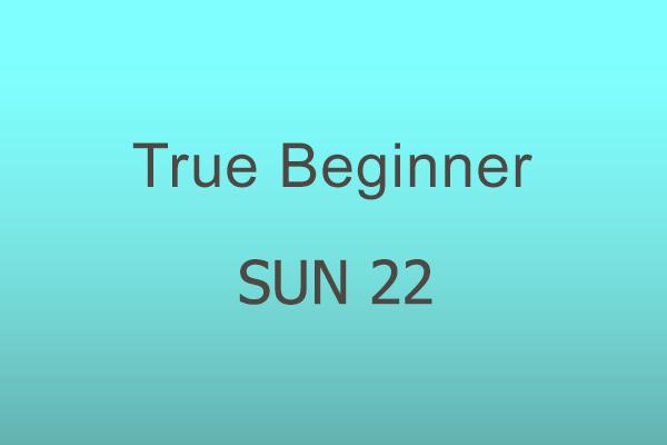 True Beginner Sun 22